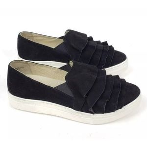 New Seychelles Quake Ruffle Suede Slip-On Sneakers
